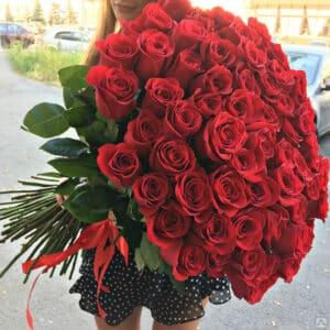 101 красная роза - купить в Киеве с доставкой на дом