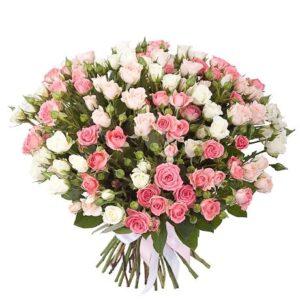 Букет из кустовых роз - заказать в Киеве на дом