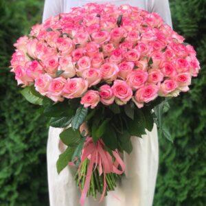 Купить 101 розу недорого в Киеве
