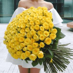 Заказать желтые розы в Киеве